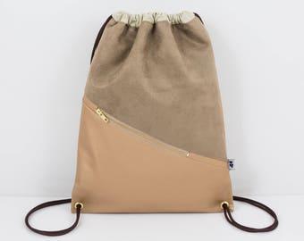 Noah gym bags Golden caramel