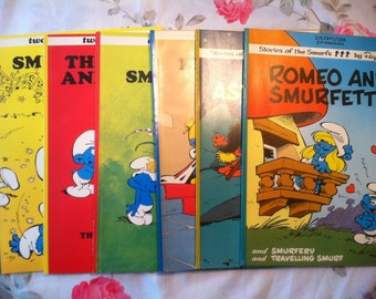 Vintage Smurf Comics (color) Stories of the Smurfs by Peyo (six comic books) (Free Shipping!)