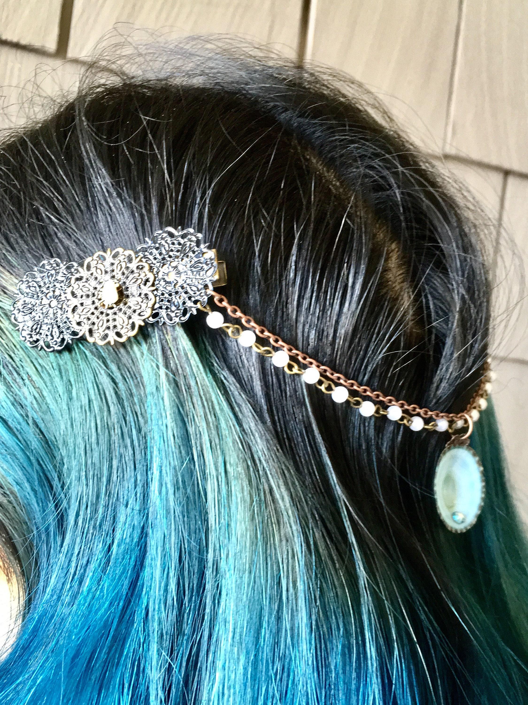 Hair accessories mermaid hair hair pins hair clips for Seashells for hair