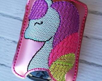 Pink Unicorn Hand Sanitizer Holder