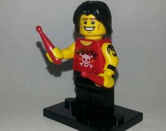 Lego Rock Drummer Custom Minifigure
