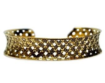 Gypsy Brass Bracelet, Gypsy Bracelet, Brass Boho Bracelet, Tribal Cuff Bracelet, Bohemian Bracelet, Tribal Bracelet, Gold Cuff Bracelet