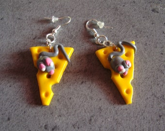 These cheese earrings