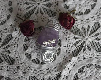 Amethyst pendant and Dragonfly fairy