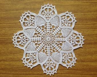 White Crochet Napkin Crochet Doily Handcrafted Home Decor Lace doily
