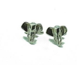 ELEPHANT Cufflinks made in Sterling Silver