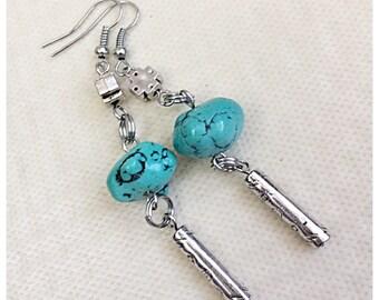Handmade Turquoise Earrings