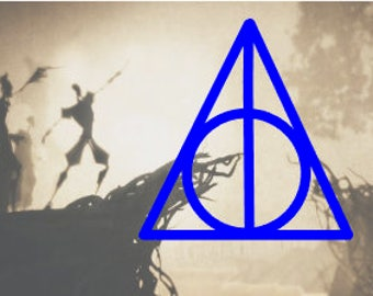Deathly Hallows Decal // The Tale of the Three Brothers // Car Decal // Computer Decal