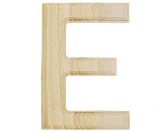 "6"" Blank Unfinished Wooden Letter E"