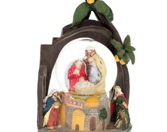 """9.5"""" Nativity Scene Snow Globe"""
