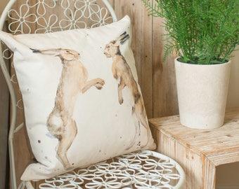 Boxing Hare Cushion