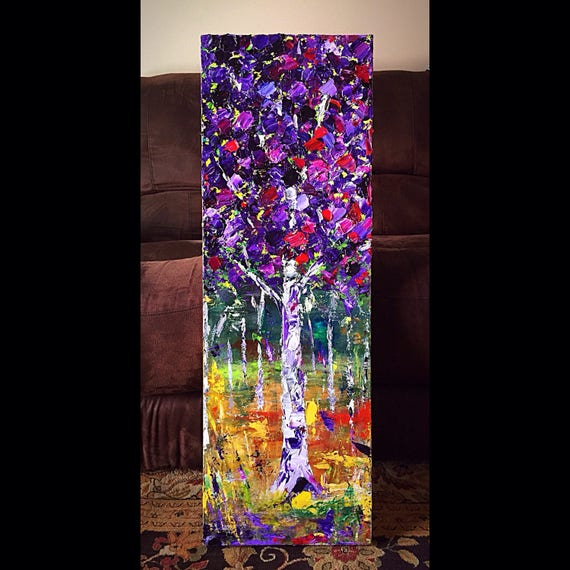 """Untitled - Aspen"" - 36x12 - Acrylic on Canvas"