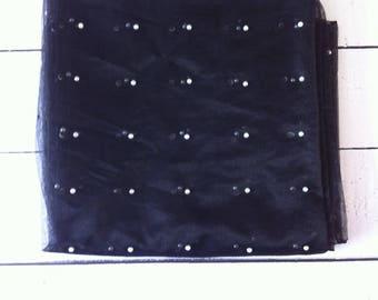 Stylish New Net Dupatta/ Stole/ Wrap/ indian/Ethnic Black