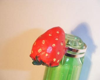 Ring Strawberry kawaii adjustable adorable and perfect for spring