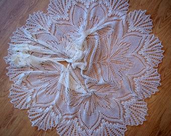 Wedding shawl,Knit wedding shawl, lace shawl, white shawl, wedding shawl, bridesmaid shawl,gift for her