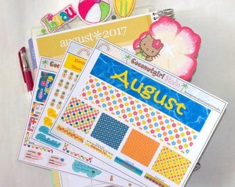 August Monthly kit | ECLP | Happy Planner