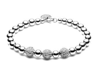 Ball bracelet • limited Pavé ball • silver