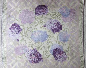 CHRISTIAN DIOR Hydrangeas vintage silk twill scarf 86 x 86 cm
