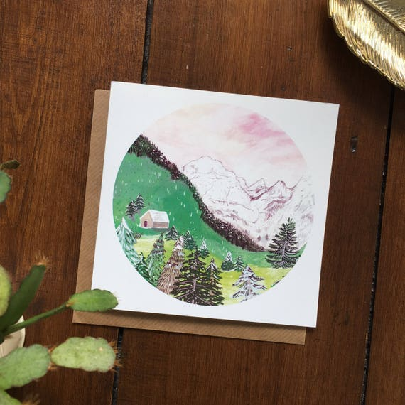 Austrian Mountains Greetings Card