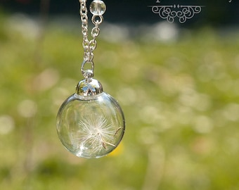 Necklace dandelion flight - Once Upon a Fantasy