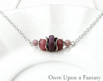 Necklace purple and pink - Once Upon a Fantasy