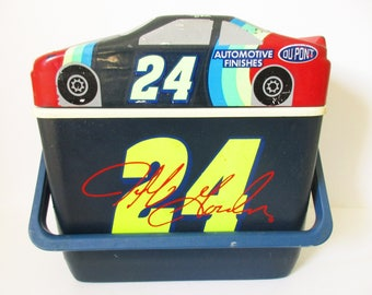 Jeff Gordon Cooler, Vintage Jeff Gordon 24 Cooler, Hardside Can 24 Dupont Cooler, Jeff Gordon NASCAR, 1995 Henrick Motorsports, Jeff Gordon