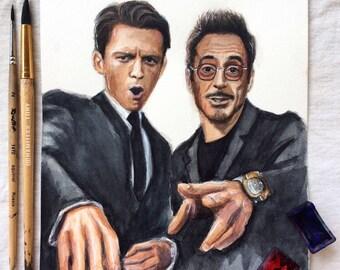 Tony Stark & Peter Parker (prints)
