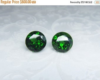 SALE Russian Chrome Diopside 8mm pair 4,30 ct rare