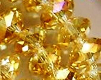 10 yellow 6 x 8 mm swarovski pearls