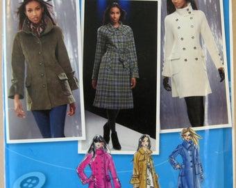 Simplicity 2508 Size D5 4-12 Sewing Pattern Coats Uncut