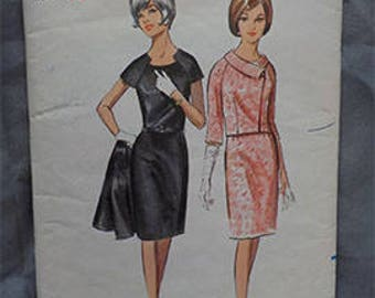 Vintage c. early 60s Butterick 4177 Misses' Sz 12 (32/25/34) Wiggle Dress and Jacket Pattern