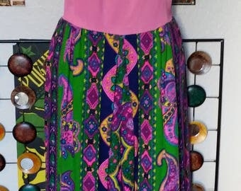 60's Mod Psychedelic Palazzo Jumpsuit