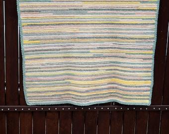 Swedish Vintage floor rug floor runner Hand Crochet Floor Runner rag rug Scandinavian floor walkway Hand Crocheted Scandinavian handmade rug