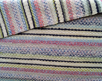 Vintage Swedish Rag Rug Antique Swedish Pattern Rag Rug Striped Woven Rug  Handmade Carpet Scandinavian Rug