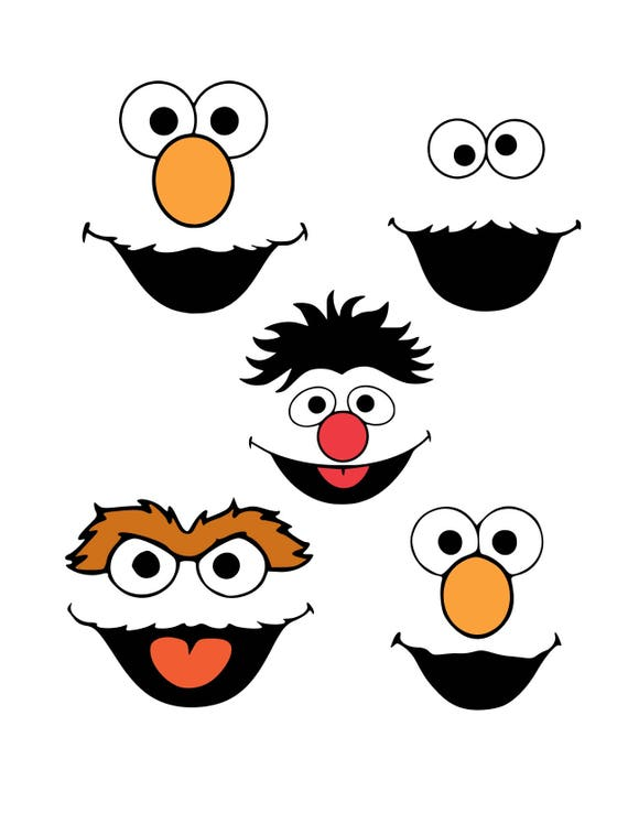 Juicy image inside sesame street printable faces