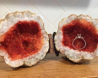 Geode Ring Box | Druzy Box | Proposal Ideas | Wedding Ring | Jewelry Box | Secret Proposal | Engagement Ring | Propose | Wedding Ideas |
