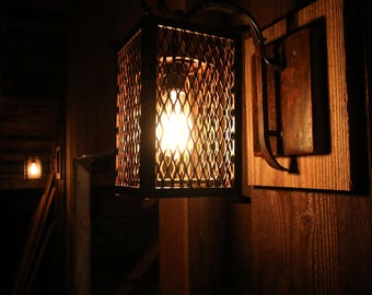 Wall mounted hanging lantern light pendant