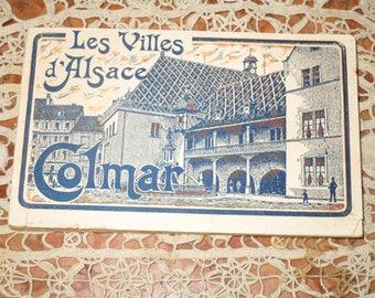 Les Villes d' Alsace Comar Antique French France Carte Postale Postcard set! #DL