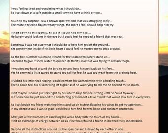 My Broken-winged Friend Called Hope - Printable Poetry Instant Download