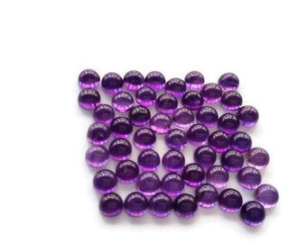 4mm Natural Amethyst Cabs   , pack of 15 Pieces African Amethyst cabochon