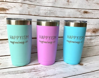 SALE Stainless Steel Tumbler, Engraved Tumbler, Business Gift, Corporate Gift, Employee Gift, Business Logo Tumbler, Insurance, Real estate