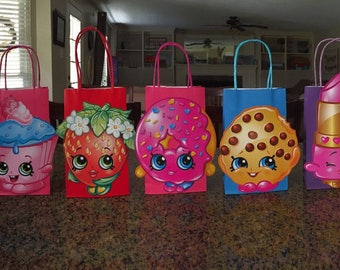 Shopkins, Shopkins Goody Bags, Shopkins Birthday, Shopkins Party,Set of 8, lots of colors to choose from,READY TO SHIP! Party Bags