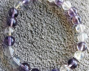 Please please pearls AA quality Ametrine energized Bracelet silver bali style