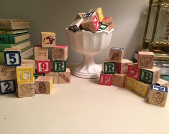 Mini Alphabet Wooden Blocks