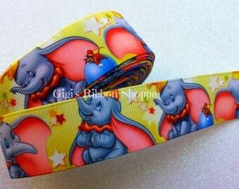 2 Yds Dumbo Ribbon | 1 inch Wide Grosgrain Ribbon