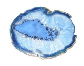 Large Blue Agate Slice // Agate Home Decor // Boho Home Decor // Agate Stones