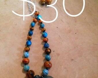 Turquoise and Orange Set