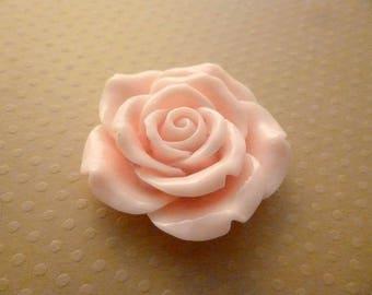 Pink big flower pierced resin 42mm - FR42 9961