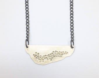 Brass Hammer Texture Necklace