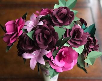 Paper Flowers, Paper Flower Bouquet, Paper Bouquet, Valentine's Day Gift, Valentine's Flowers, Valentines Day Gift, Valentines Flowers, Gift